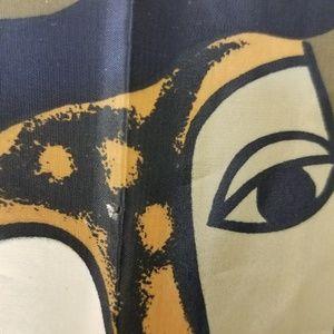 Vintage Accessories - Vintage Picaso man design seta silk scarf